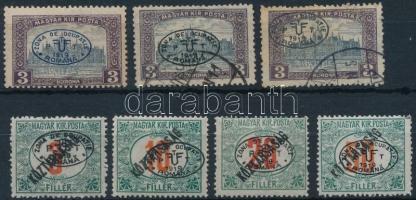 Debrecen 1919 7 db megszállási bélyeg, garancia nélkül
