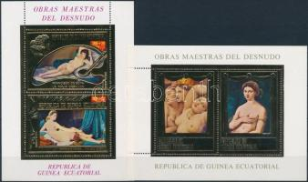 1975 Aktfestmények aranyfóliás blokksor Mi A 188-A 189