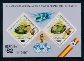 1982 Labdarúgó VB (IV.) vágott blokk (4.000)