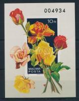 1982 Rózsák vágott blokk (7.000)