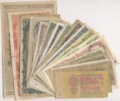 18db-os vegyes külföldi bankjegy tétel, közte Csehszlovákia, Románia, Szovjetunió T:III,III- 18pcs of various banknotes, including Czechoslovakia, Romania, Soviet Union C:F,VG