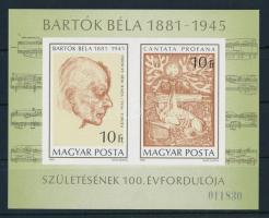 1981 Bartók Béla vágott blokk (4.000)