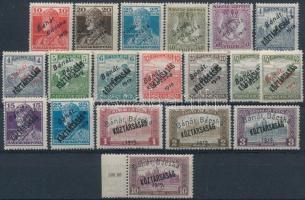 Bánát Bácska 1919 19 db megszállási bélyeg, garancia nélkül