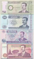 Irak 1992. 5D + 2001. 25D + 2002. 100D + 250D + 10.000D T:I,I- Iraq 1992. 5 Dinars + 2001. 25 Dinars + 2002. 100 Dinars + 250 Dinars + 10.000 Dinars C:UNC,AU