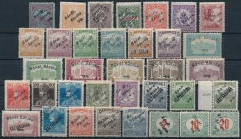 Bánát Bácska 1919 35 db megszállási bélyeg, garancia nélkül