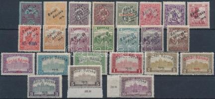 Bánát Bácska 1919 24 db megszállási bélyeg, garancia nélkül