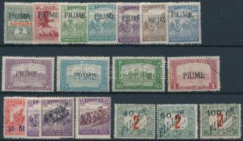 Fiume 1918 11 db klf bélyeg + Temesvár 1919 7 db klf bélyeg, garancia nélkül