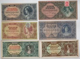 30db-os vegyes magyar pengő bankjegy tétel T:III,III-