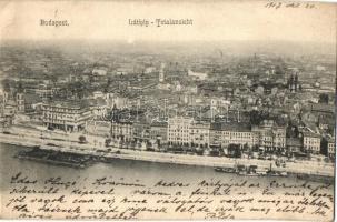 Budapest, látkép, gőzhajó (EK)