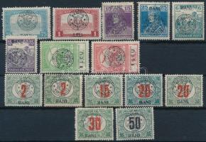 Kolozsvár 1919 15 db megszállási bélyeg, garancia nélkül