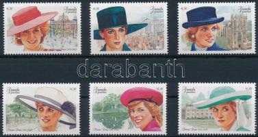 1997 Diana hercegnő sor Mi 2638-2643