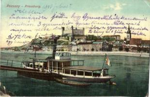 Pozsony, Pressburg, Bratislava; gőzhajó / steamship (EK)