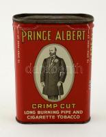 Prince Albert régi fém dohány doboz, apró horpadással, 10×7 cm