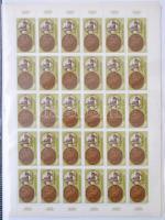 1965 Olimpiai érmesek (I.) - Tokió sor teljes ívekben az ívszélen olimpiai öt-karikákkal (25.000)