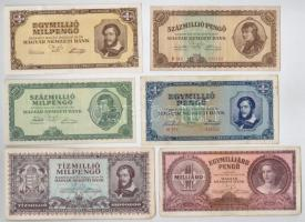 27db-os vegyes magyar pengő bankjegy tétel T:II,III,III-