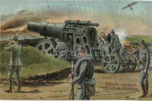 Österr.-ungar. Motorbatterien / WWI K.u.K. artillery, military field post (EB)