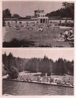cca 1947 4 db soproni fotó, a Magyar Központi Híradó Rt. felvételei, hátuljukon feliratozva, pecséttel jelzettek, 12×18 cm