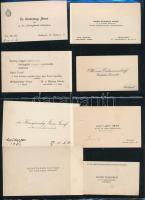 cca 1930-1945 Vegyes magyar névjegykártya tétel (vitézek, rendőrök, katonatisztek), 24 db