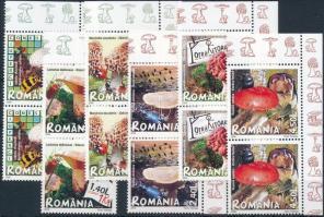 2008 Gombák sor ívsarki párokban Mi 6262-6267