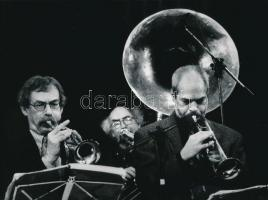 cca 1975 Vincze János (1922-1998): Szentek bevonulása, feliratozott vintage fotóművészeti alkotás, 18x24 cm