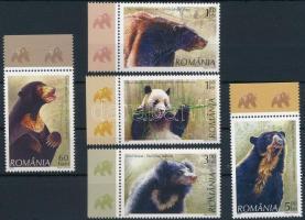 2008 Medvék ívszéli sor Mi 6284-6288