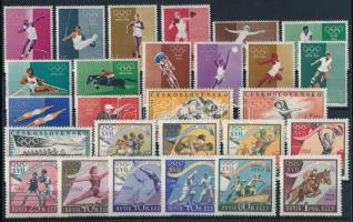 Olimpia 1960 motívum 49 klf bélyeg 2 stecklapon