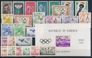 Olimpia 1960 motívum 49 klf bélyeg és 1 blokk 2 stecklapon