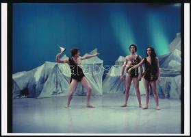 cca 1970 Balettjáték, 3 db vintage negatívról készült modern nagyítás, 18x25 cm