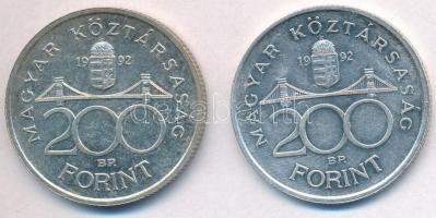 1992. 200Ft Ag MNB (2x) T:2