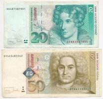 Németország 1993. 20M + 1996. 50M T:III Germany 1993. 20 Mark + 1996. 50 Mark T:F