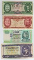 8db-os forint bankjegy tétel, benne 1990. 500Ft T:III