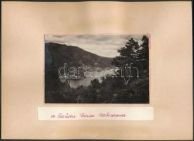 cca 1950 Trolibusz Irkutszk városában, Bajkál-tó, 10x15 cm, karton 20x27 cm / Irkutsk, Lake Baikal, Russia, 2 photos, 10x15 cm
