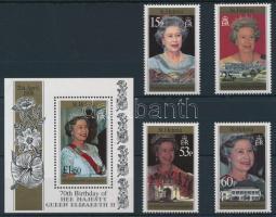 1996 II. Erzsébet királynő sor Mi 684-687 + blokk Mi 16