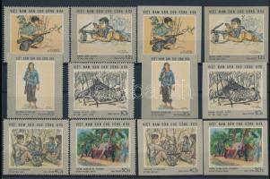 1969 Festmények fogazott és vágott sor Mi 575-580