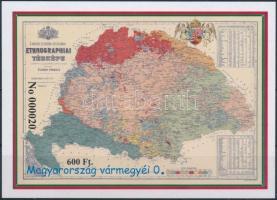 2016 Magyarország vármegyéi 0. - Kogutowicz Manó A Kárpát-medence etnikai térképe emlékív fekete sorszámmal