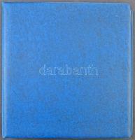 Lindner kék gyűrűs borító 48 berakólappal + 22 olimpai előnyomott lap
