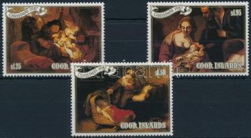 1987 Karácsony, Rembrandt festmények sor Mi 1249-1251