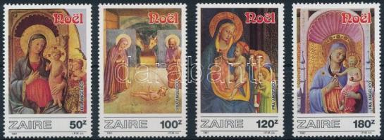 1987 Karácsony, festmények sor Mi 945-948