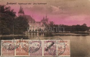 Budapest XIV. Városliget, Vajdahunyad-vára, tó, TCV card (EK)