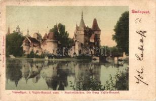 Budapest XIV. Városliget, Vajdahunyad-vára, tó, Ganz Antal kiadása (EK)