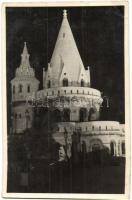 Budapest I. Halászbástya, esti kivilágításban (EK)