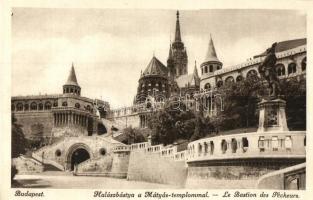 Budapest I. Királyi vár, Halászbástya, Mátyás-templom, koronázási lépcső (EK)