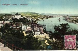 Budapest, látkép, N. M. Bp., TCV card (EK)