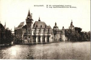 Budapest XIV. Városligeti tó, M. kir. Mezőgazdasági Múzeum (EK)