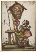 Children, religious art postcard, Emil Fink Künstlerpostarte No. 214. s: Hummel (EK)