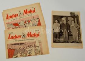 1935 Képes híradó Gömbös propaganda + 1954/55 2 db Ludas Matyi