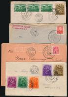 1938-1940 6 db levél és emléklap VISSZATÉRT bélyegzésekkel