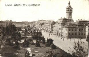 Szeged, Széchényi tér, városháza, G. H. kiadása (kopott sarkak / worn corners)