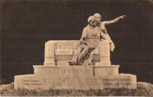 Csatád, Lenauheim; Lenau szobor / statue (kis szakadás / small tear)