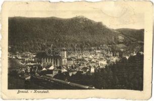 Brassó, Kronstadt, Brasov; Látkép, Hubert Hedwig és Társa kiadása / general view (EK)